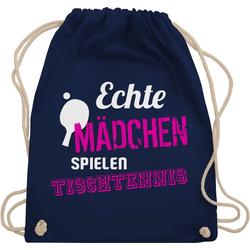 Shirtracer Turnbeutel Echte Mädchen spielen Tischtennis - Sport Zubehör - Turnbeutel, Wandern, Football und Co. blau