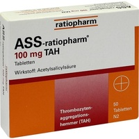 Ratiopharm ASS-ratiopharm 100 mg TAH Tabletten
