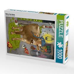 Meine Kuh Berta Lege-Größe 48 x 64 cm Foto-Puzzle Bild von Marion Krätschmer Puzzle