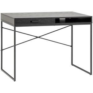 ebuy24 Schreibtisch Sea Schreibtisch 1 Schublade und 1 Fach schwarz.