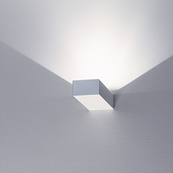 Midi Brigg 'LED' zweiflammig mit Alu-Struktur