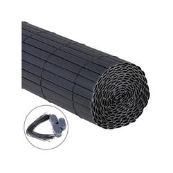 Woltu Balkonsichtschutz Sichtschutzmatte PVC grau 100 cm x 500 cm