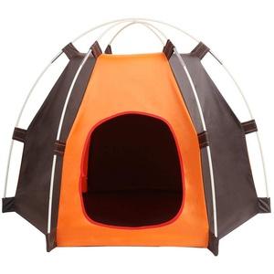 OUGE Tragbares, faltbares Hunde-Zelt und Katzenhaus-Bett, wasserdicht, für den Außenbereich, für Sommer, Strand, Kaninchen, Reisen, Camping, Haustierkäfig im Auto, Türeingang, Größe 20 x 24 cm