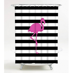 SANILO Duschvorhang Flamingo, 180 x 180 cm rosa