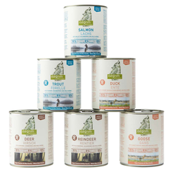 isegrim® Dosen-Menü-Mix, Anzahl: 90 x 800 g, 800 g, Hundefutter nass