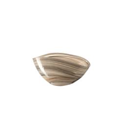 Glas Koch Schale Alabastro in beige, 20 x 12 cm