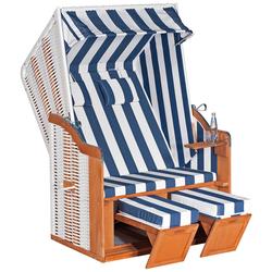 SunnySmart Strandkorb Rustikal 50 Plus 1080 weiß Strandkörbe Garten, Terrasse Balkon