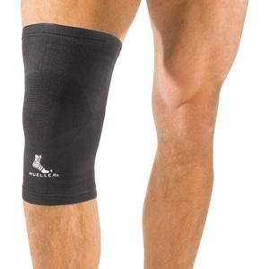MUELLER Bandage Sport Medicine elastische Knie-Activ, Schwarz, L