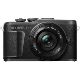 Olympus PEN E-PL10 schwarz + 14‑42 mm EZ schwarz