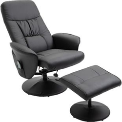 HOMCOM Massagesessel mit Fußhocker 81 x 81 x 105 cm (BxTxH)   TV Sessel Fernsehsessel Relaxsessel mit Hocker