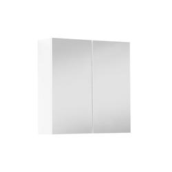 mokebo Spiegelschrank Die Badenixe auch als hängender Badschrank in Hochglanz Weiß