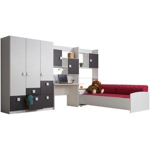 € Basispreis* Jugendzimmer, 4-teilig  Sina ¦ weiß ¦ Maße (cm): B: 351 H: 197 T: 239