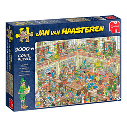 Jumbo Spiele Puzzle 20030 Jan van Haasteren Die Bibliothek, 2000 Puzzleteile