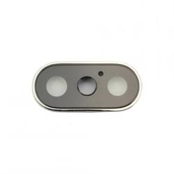 Kamera-Linse mit Ramen für iPhone X, weiß