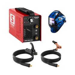 Stamos Basic Schweißset Elektroden Schweißgerät - 200 A - 230 V - IGBT + Schweißhelm – Sub Zero