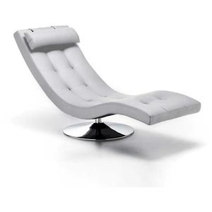 Relaxliege in Weiß drehbar