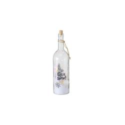 Boltze LED-Flasche Sheila in klar, 36 cm