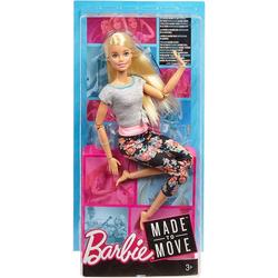 Mattel® Anziehpuppe Mattel FTG81 - Barbie - Puppe mit Gelenken - Made to Move