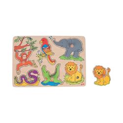 goki Steckpuzzle Soundpuzzle Zootiere, mit Tierstimmen, Puzzleteile