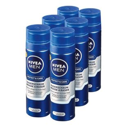 Nivea Men Rasierschaum Protect & Care 200 ml, 6er Pack