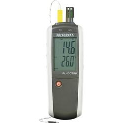 VOLTCRAFT Luftfeuchtemessgerät (Hygrometer) PL-100TRH 0% rF 100% rF -200°C +1372°C kalibriert: We