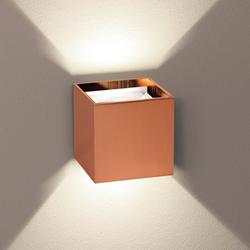 s.LUCE pro Würfelförmige LED Wandleuchte Ixa mit verstellbaren Winkel Kupfer