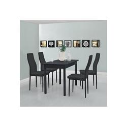 en.casa Esstisch, Moderner Küchentisch Den Haag 120x60cm in schwarz schwarz