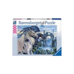 Ravensburger Puzzle Puzzle 1000 Teile, 70x50 cm, Mystische Drachen, Puzzleteile