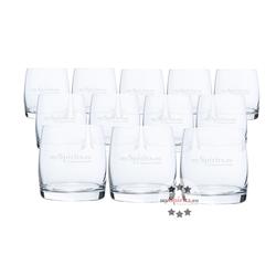 12 x mySpirits Gin und Whisky Tumbler Glas
