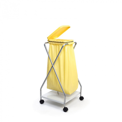 Fahrbarer ständer für 1 sack 70/120 l, gelb 440 x 480 x 930 mm