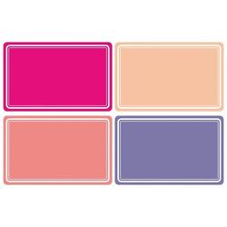 HERMA 10666 Beschriftungsetiketten 52x82 mm pink/lila ablösbar Papier matt Handbeschriftung 80 Stück