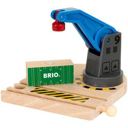 BRIO® Spielzeugeisenbahn-Erweiterung BRIO® WORLD Eisenbahn-Magnetkran, FSC®-Holz aus gewissenhaft bewirtschafteten Wäldern