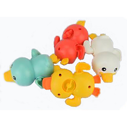 kueatily Badewannenspielzeug Kinder Schwimmspielzeug Bad und Wasser Ente Spielzeug ,Aufzugsuhrwerk kleine gelbe Ente Sommer Baby Spielzeug Badeplüschtier