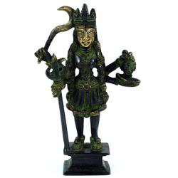 Guru-Shop Dekofigur Messingfigur, Statue Kali 19 cm - Motiv 1