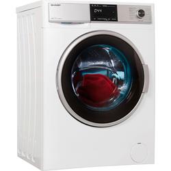 Sharp Waschtrockner ES-HDB8147W0-DE, 8 kg / 6 kg, 1400 U/Min, Waschtrockner, 42458634-0 weiß weiß