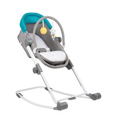 badabulle Personenwagen Babywiege Compact Rest & Go, blau/grau, 4-in-1