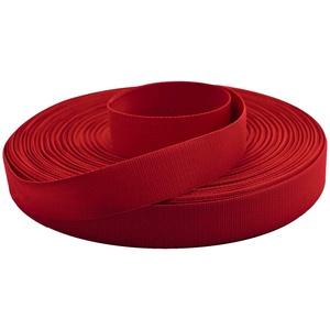 50m Ripsband Einfassband Stoßband Besatzband Hutband Hosenband Breiten-/Farbwahl, Größe:20mm, Farbe:rot