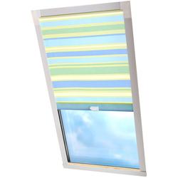 Dachfensterrollo Dekor, Liedeco, Lichtschutz, in Führungsschienen blau Dachfensterrollos Rollos Jalousien Rollo
