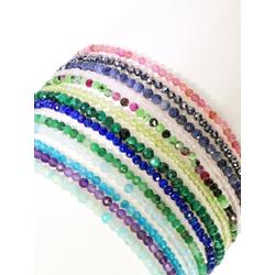 Adelia´s Armband Rubin Zoisit Armband 19 cm
