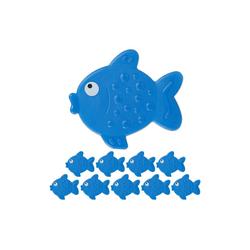 relaxdays Antirutsch-Aufkleber 10 x Antirutsch Sticker Badewanne Fisch, B: 11 cm, L: 1 cm