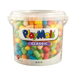 PlayMais Spielbausteine PlayMais BASIC Eimer, 500 Maisbausteine