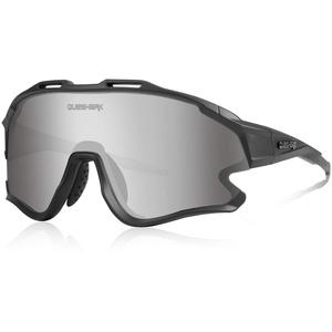 Queshark Fahrradbrille TR90 Unbreakable Frame für Männer Frauen mit 1 Polarisierte Linse 3 HD Linse, Anti-UV400 zum Fahren Angeln Laufen Wandern QE0051