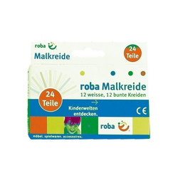 roba® Malkreide Tafelkreide, 24 Stück (12 x weiß/12 x farbig)