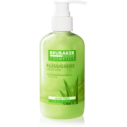 BRUBAKER Handseife Flüssigseife mit Aloe Vera Duft, 1-tlg., feuchtigkeitsspendend, im praktischen Spender grün