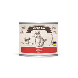 5x200g  + 200g GRATIS Natural Trail ALPHA CAT  Super Premium Nassfutter für Katzen Katzenfutter