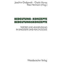Bedeutung  Konzepte  Bedeutungskonzepte - Buch
