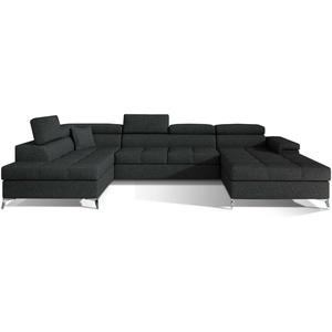 Ecksofa Ergo mit Schlaffunktion Wohnlandschaft XXL Sofa Bettkasten Modern 23