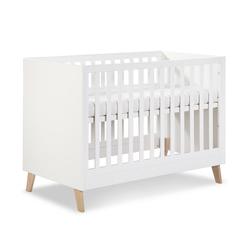 Clamaro Babybett, Clamaro 'NOAH' 120 x 60 Babybett Gitterbett aus Holz inkl. Lattenrost (3-fach höhenverstellbar) mit 3 herausnehmbaren Gitterstäben - Kinderbett Maße: 124 x 65,5 x 88 cm