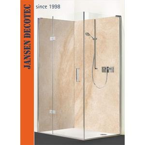 Eck - Duschrückwand, 2 Segmente je 90x200cm, Motiv: Sandstein Canyon - KOSTENLOSER Zuschnitt auf Ihr Wunschformat !