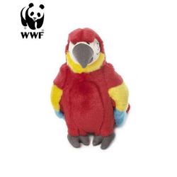 WWF Plüschfigur Plüschtier Hellroter Ara Papagei (18cm)